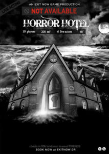 exit now unavailable horror hotel   EXIT NOW   Live Game Experience   Escape Room   Services