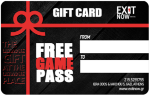 GIFTCARD | EXIT NOW | Live Game Experience | Escape Room | Services
