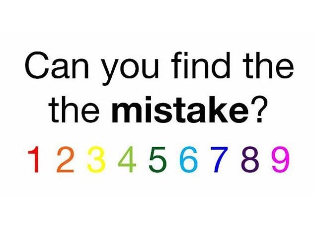 Είστε αρκετά γρήγοροι για να βρείτε το λάθος;