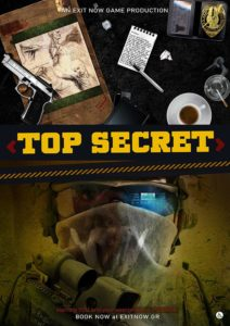 top secret EXIT NOW | EXIT NOW | Live Game Experience | Escape Room | Services