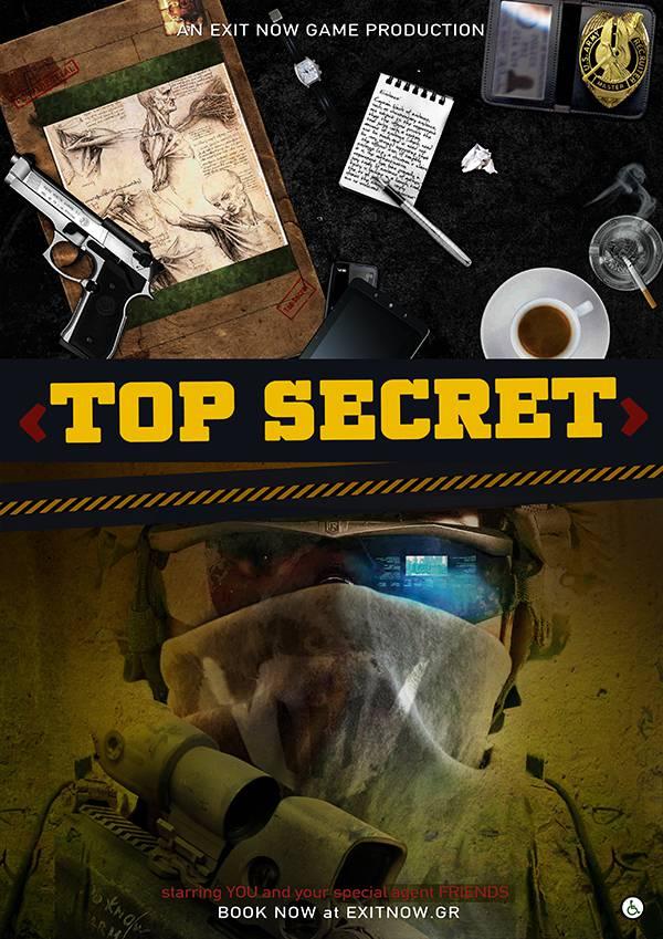 top secret EXIT NOW | EXIT NOW | Live Game Experience | Escape Room | Services