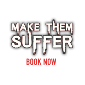 EXIT NOW make them suffer Logo | EXIT NOW | Live Game Experience | Escape Room | Services
