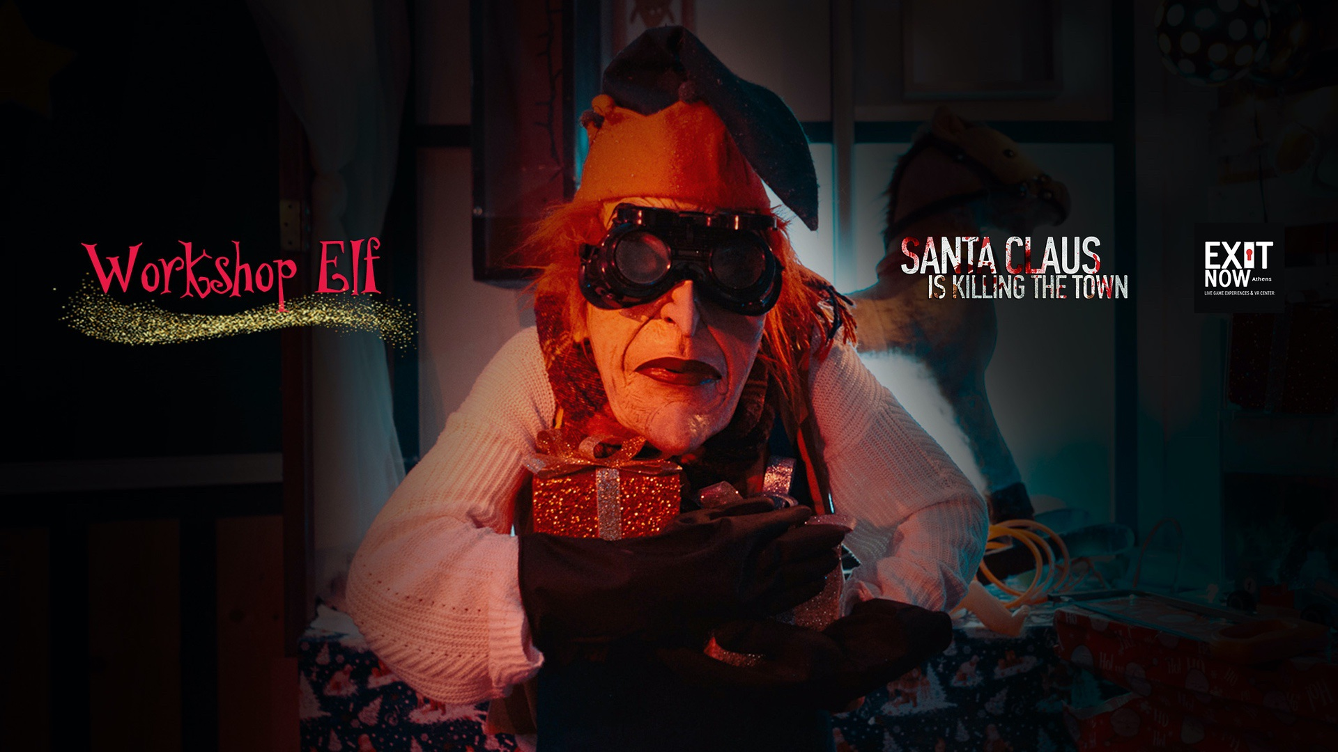 Horizontal Elf   EXIT NOW   Live Game Experience   Escape Room   Services