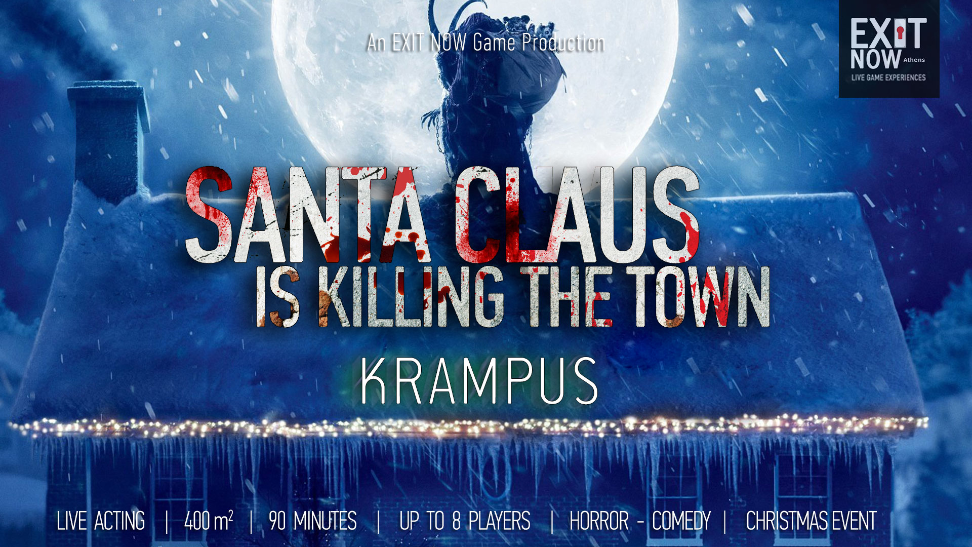 Santa Claus Is Killing The Town EXITNOW Krampus | EXIT NOW | Live Game Experience | Escape Room | Services