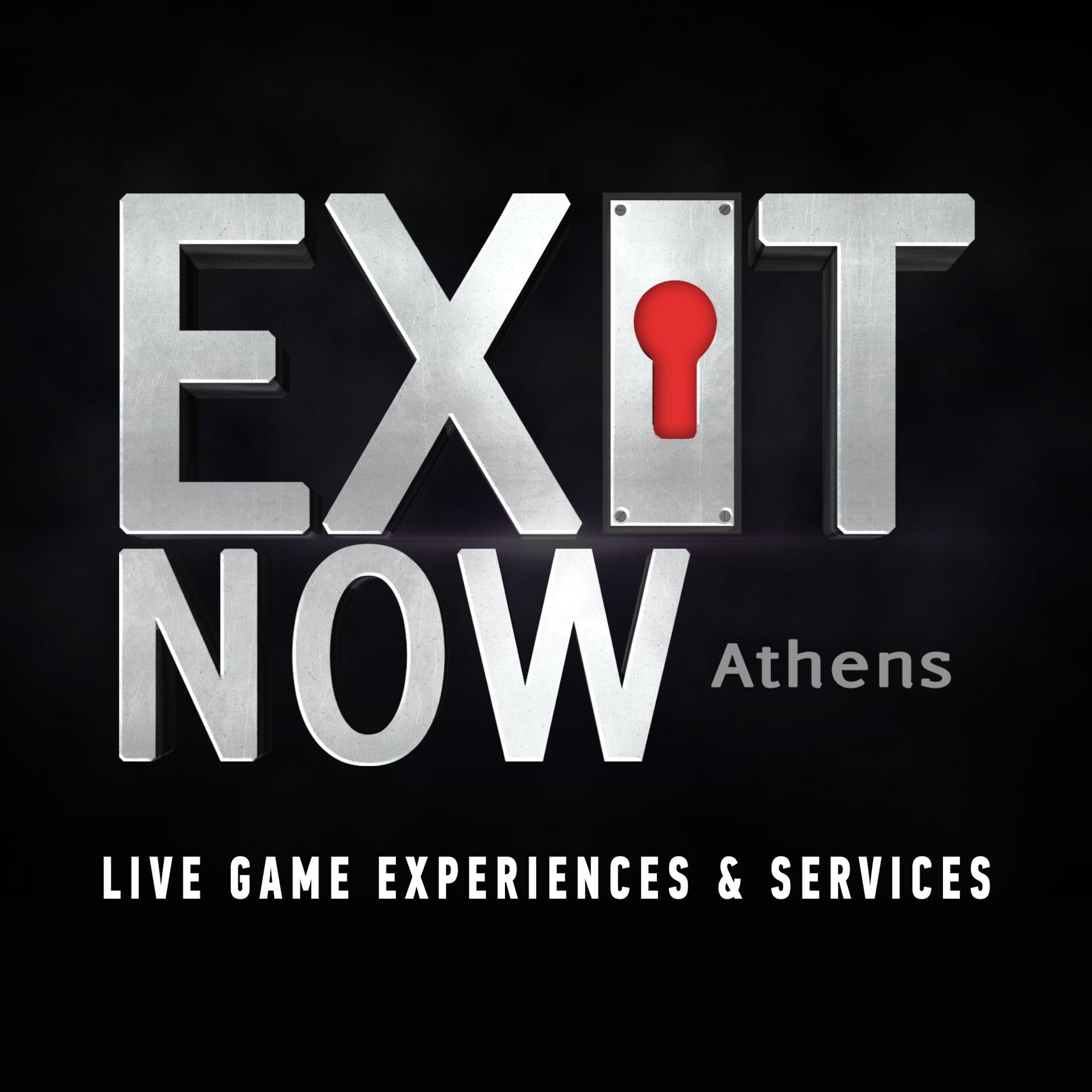EXITNOW 2020 LOGO ESCAPEROOM SERVICES | EXIT NOW | Live Game Experience | Escape Room | Services